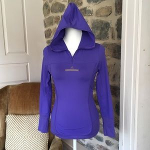 Adidas Stella McCartney long sleeve hood half zip